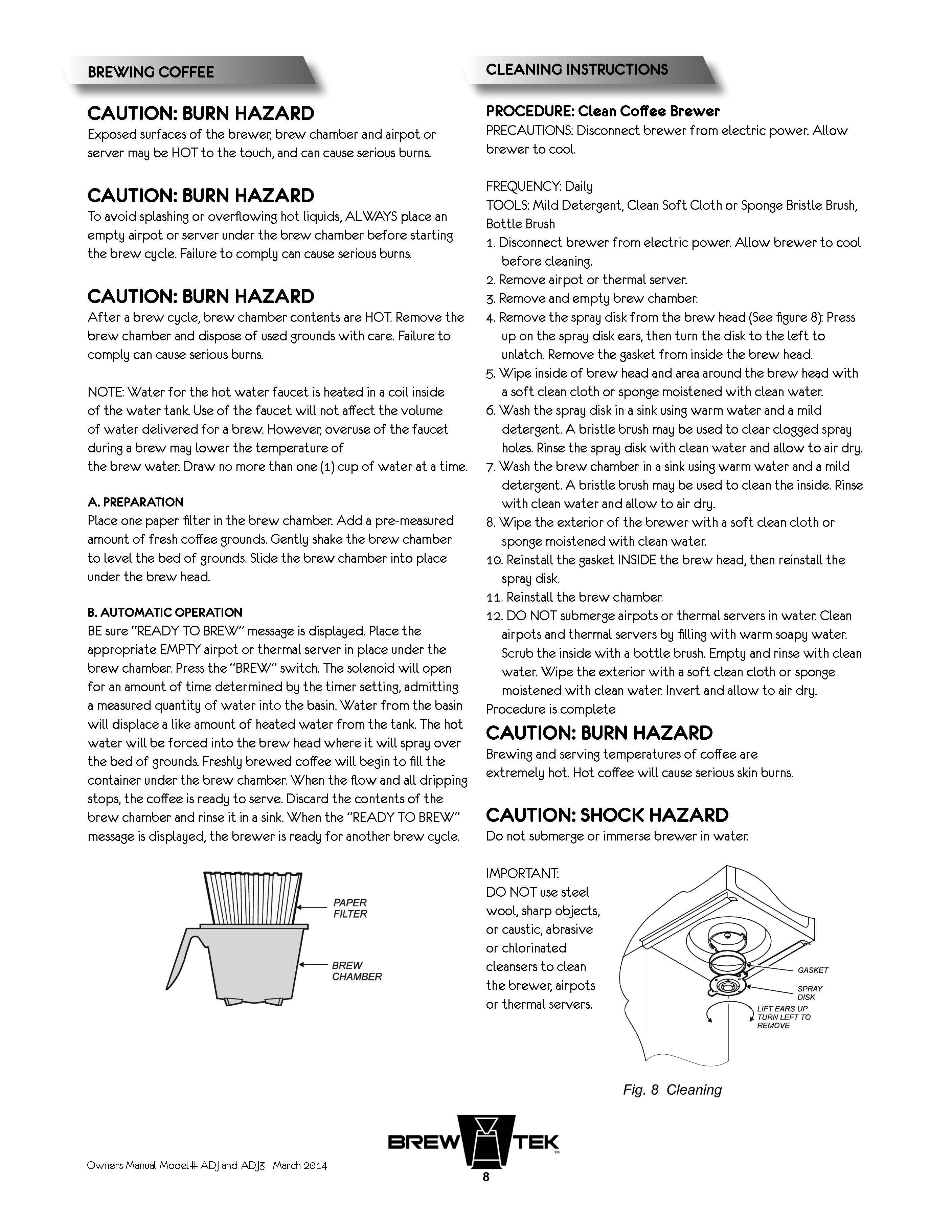 BrewTek ~ ADJ Manual